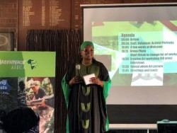Greenpeace Africa's Executive Director, Njeri Kabeberi welcomes participants in Johannesburg.jpg